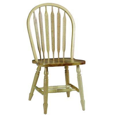 Audette Windsor Arrowback Solid Wood Dining Chair August Grove Color: Natural