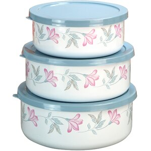 Pink Trio 3 Container Food Storage Set