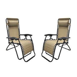 Sonora Jara Reclining Zero Gravity Chair with Cushion (Set of 2)