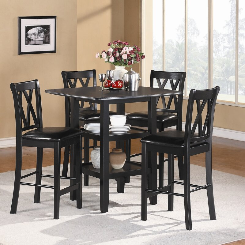 Prime Wanette 5 Piece Counter Height Dining Set Home Interior And Landscaping Transignezvosmurscom