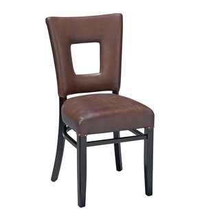 Dobbs Beechwood Square Open Back Fully Seat Upholstered Dining Chair