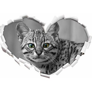 Small Bengal Cat Wall Sticker By East Urban Home