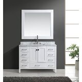 Carrasquillo 48 Single Bathroom Vanity with Mirror by Winston Porter