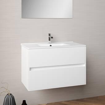 Orren Ellis Dansfield 32 Wall Mounted Single Bathroom Vanity Set Wayfair