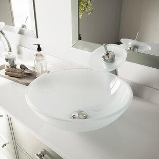Guide to buy Glass Circular Vessel Bathroom Sink By VIGO