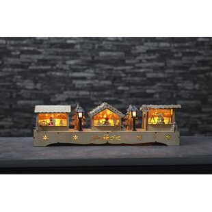 10-Light Beige Advent Market Lamp By The Seasonal Aisle