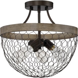 Brynn 3-Light Semi Flush Mount by Gracie Oaks