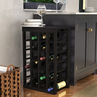 Karnes Pine 24 Bottle Floor Wine Rack by Red Barrel Studio