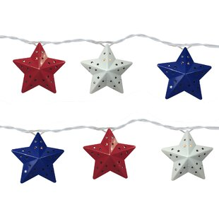 The Holiday Aisle Star 10 Light Novelty String Light