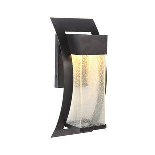 Charlton Home Oakhill 1-Light Outdoor Metal Wall Lantern