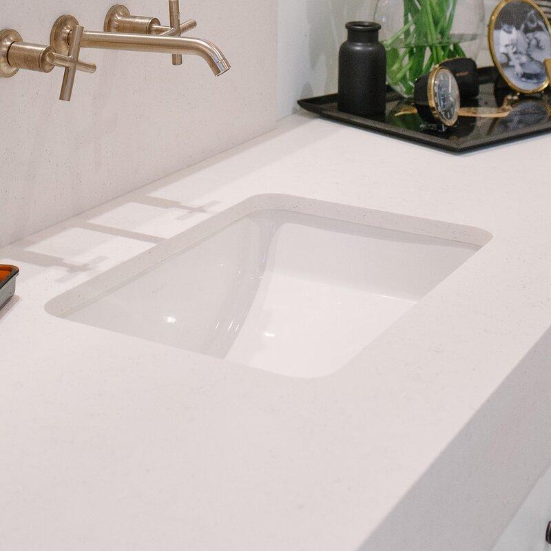 Undermount Bathroom Sink | Kohler Ladena Ceramic Rectangular Undermount Bathroom Sink