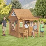 Cascade 4.4' x 6' Playhouse by Backyard Discovery