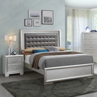 Everly Quinn Aguilera Foam Upholstered Panel Bed
