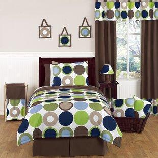 Sweet Jojo Designs Designer Dot 4 Piece Twin Comforter Set
