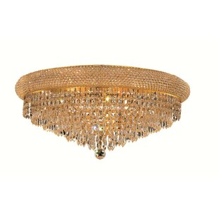 Willa Arlo Interiors Jessenia Contemporary 12-Light Crystal Shade Flush Mount