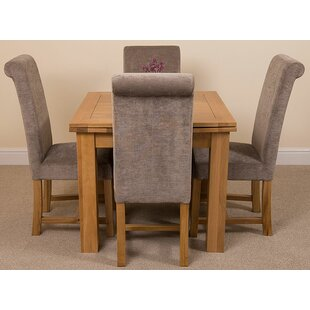 Review Kenia Dining Set With 4 Chairs