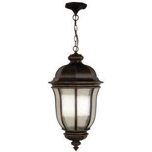 Charlton Home Oakhill Peruvian Bronze 3-Light Outdoor Hanging Lantern