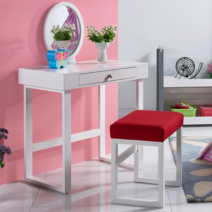 Versanora 3 Piece Bellezza Kids Vanity Set Wayfair Ca