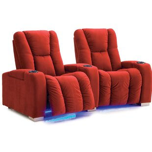 Neville Manual Reclining Curved Home Theater Loveseat (Row Of 2) By Palliser Furniture