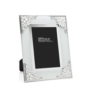 Enamel Corning Glass Picture Frame