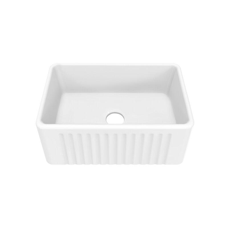 Swiss Madison Delice 24 L X 18 W Farmhouse Kitchen Sink Reviews Wayfair