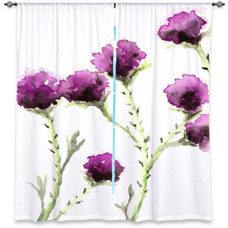 Astoria Grand Futral Nature Floral Room Darkening Rod Pocket Curtain Panels Reviews Wayfair