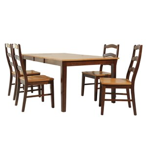 Kaw City 5 Piece Dining Set by Loon Peak