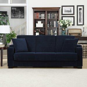 blue denim sofa | wayfair
