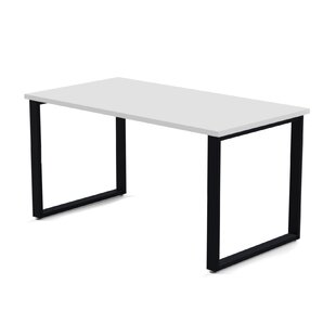 Wickstrom Desk (48W x 24D) with Wire Management, Designer White Laminate/Silver Finish