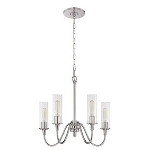 Charlton Home Eunice 4-Light Shaded Chandelier