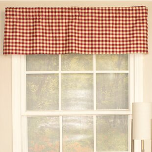 Comet Check Straight Curtain Valance by RLF Home