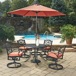 Home Styles Biscayne 7 Piece Dining Set with Cushion