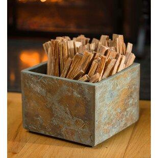 Natural Slate Hearth Log Rack By Plow & Hearth