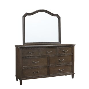 Alcott Hill Holderman 7 Drawer Dresser with Mirror