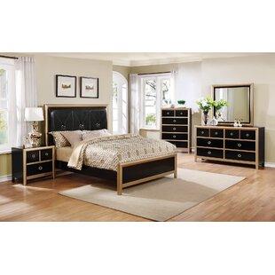 Mercer41 Litvak Upholstered Panel Bed