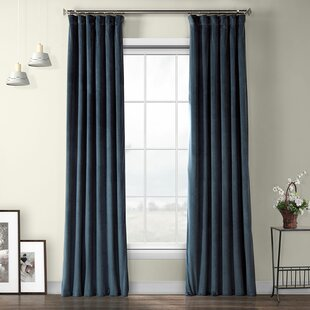 Livia Riverton Solid Heritage Plush Velvet Rod Pocket Single Curtain Panel by Modern Rustic Interiors