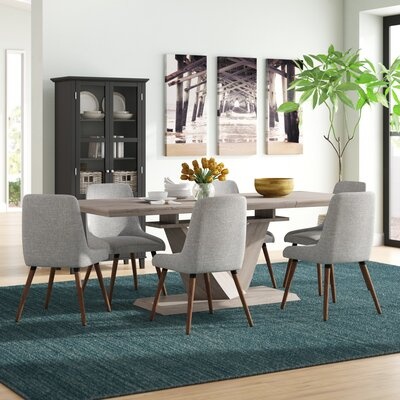 Brayden Studio Simmers 7 Piece Dining Set
