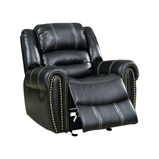 Aren Transitional Leather Manual Rocker Recliner by Darby Home Co SKU:CA292497 Order