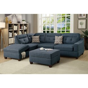 Laforce Reversible Modular Sectional with Ottoman