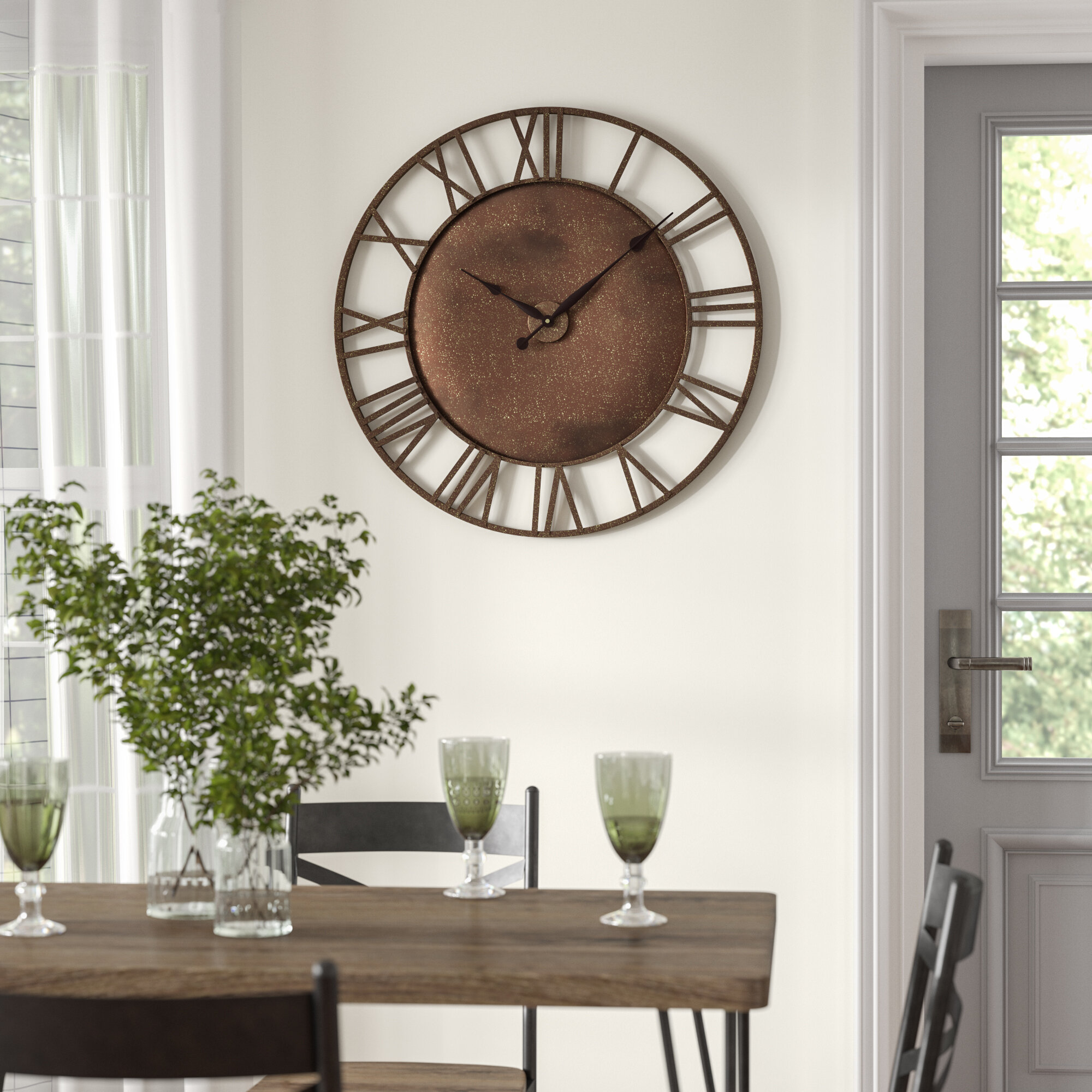 Oversized 315 Round Bronze Roman Numeral Wall Clock Reviews