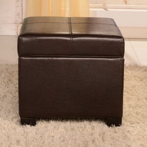 Royal Comfort Leather Storage Ottoman by Bellasario Collection