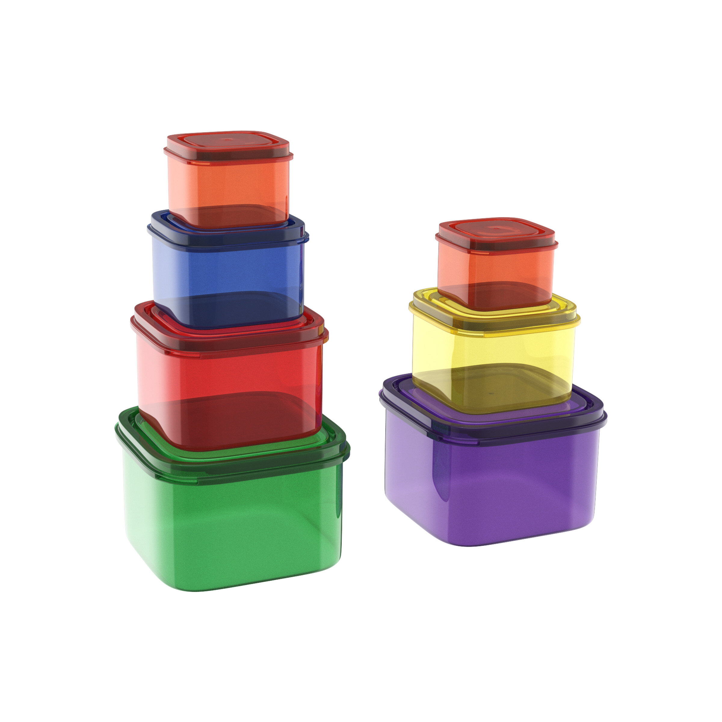 Rebrilliant Fuller Color Coded 7 Container Food Storage Set Wayfair