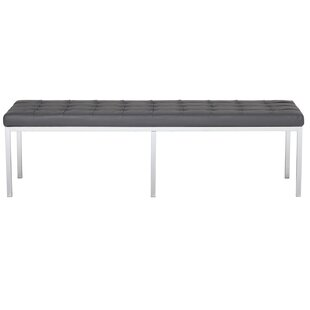 Lintel Leather Bench by Offex