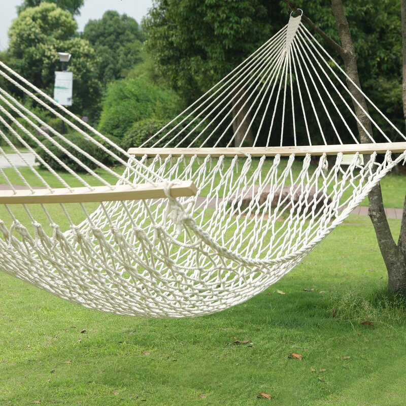 woven rope tree hanging suspended cotton tree hammock