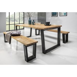 Davis 3 Piece Solid Wood Dining Set Brayden Studio