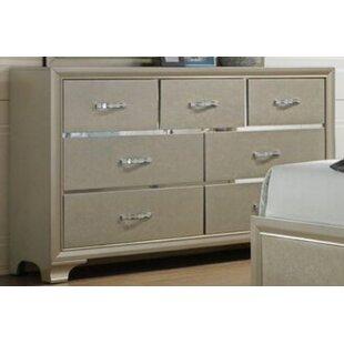 House of Hampton Scarlet 7 Drawer Dresser