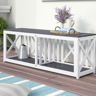 Morgane Wood Storage Bench by One Allium Way