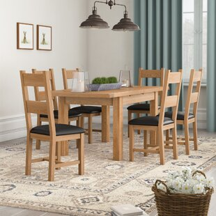 Rothbury Extendable Dining Set with 6 Chairs by Hazelwood Home