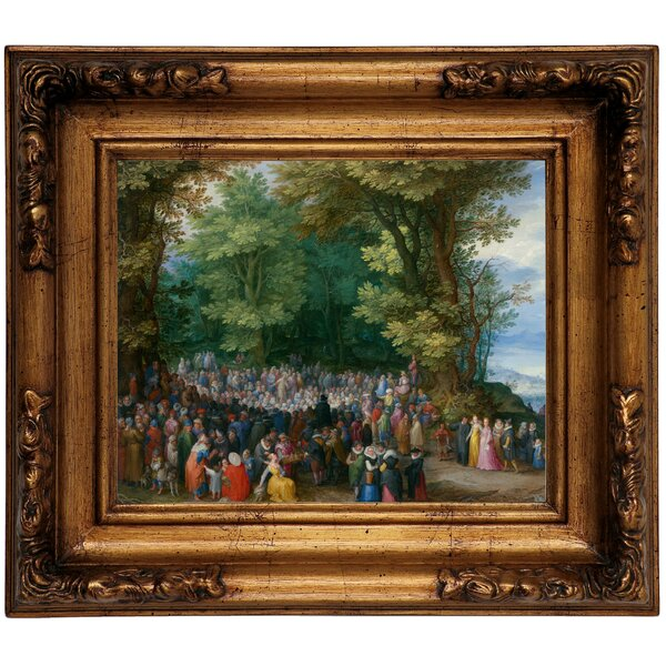 Astoria Grand The Sermon On The Mount 1598 Framed Oil Painting Print On Canvas In Gold Wayfair