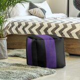 Evanston Cat Stripes Cube Ottoman by East Urban Home